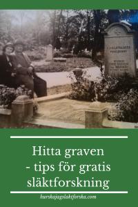 Hitta graven - tips för gratis släktforskning